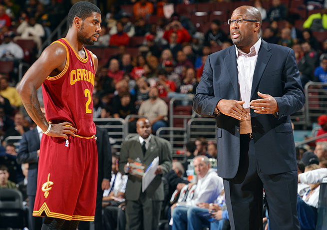 All-Star point guard Kyrie Irving and the Cavaliers are struggling under new coach Mike Brown.