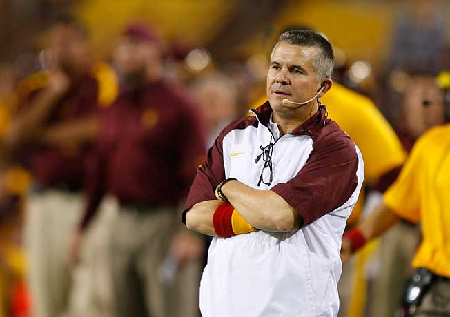 Todd Graham has led the 19th-ranked Sun Devils to an 8-2 mark in his second season at Arizona State.