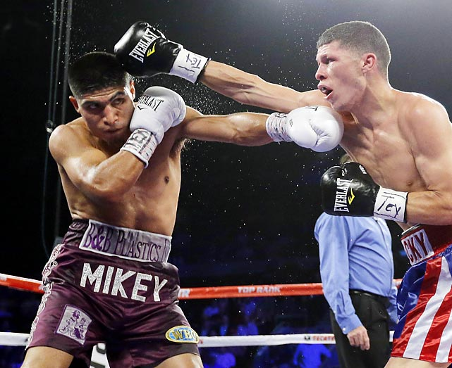 There are not many weaknesses to Garcia. Technically sound with potent one-punch power, Garcia can win in a variety of ways. He pushed his streak of stoppages to 11 this month with an eight-round beating of Roman Martinez that netted Garcia a super featherweight belt. Top Rank is angling to match Garcia with lightweight Yuriorkis Gamboa early next year. All records through Nov. 25