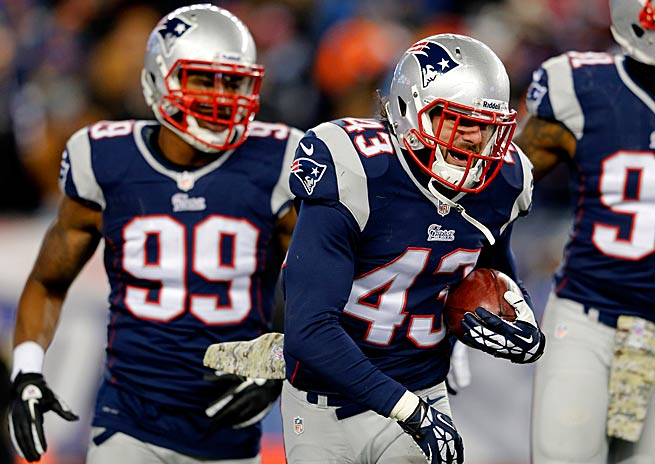 Nate Ebner didn't play high school football, but is in his second season with the Patriots.
