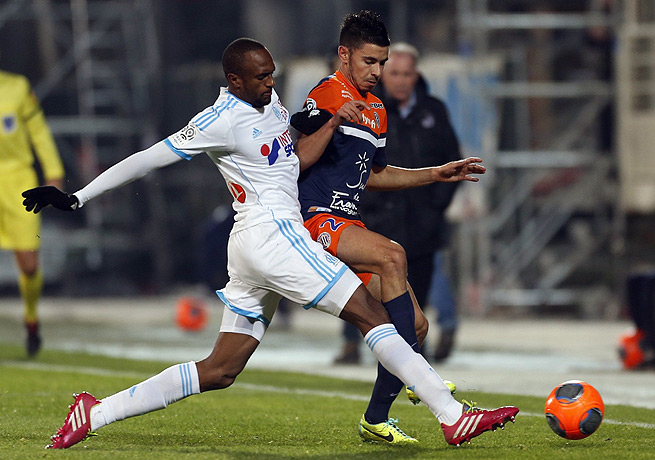 Kassim Abdallah (left) and Marseille are now within striking distance of third place in Ligue 1.
