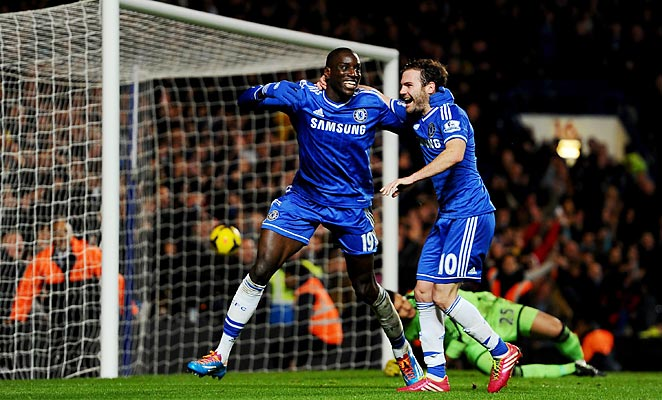 Demba Ba was a scoring substitute as Chelsea moved into second with a win over Southampton.