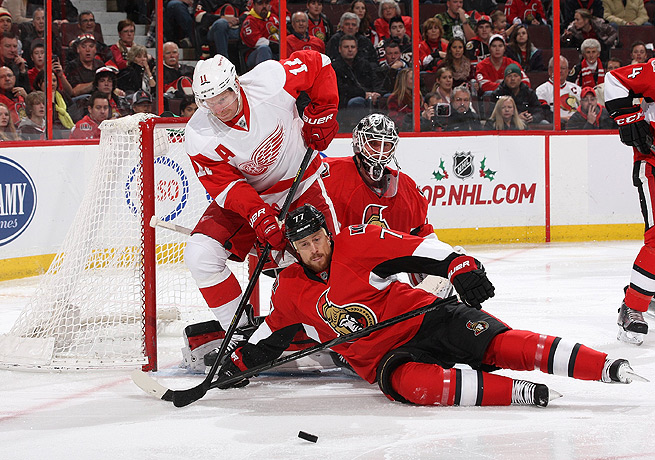 Daniel Alfredsson was still all business against the Senators, finishing with goal and an assist.