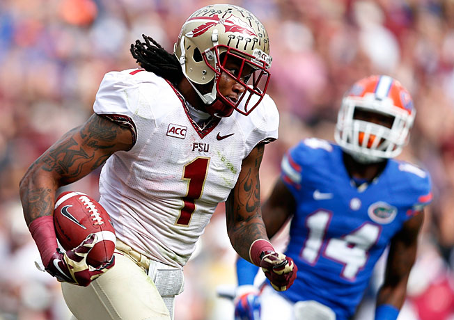 Following Alabama's loss, Kelvin Benjamin (1) and Florida State moved to the top spot in the rankings.