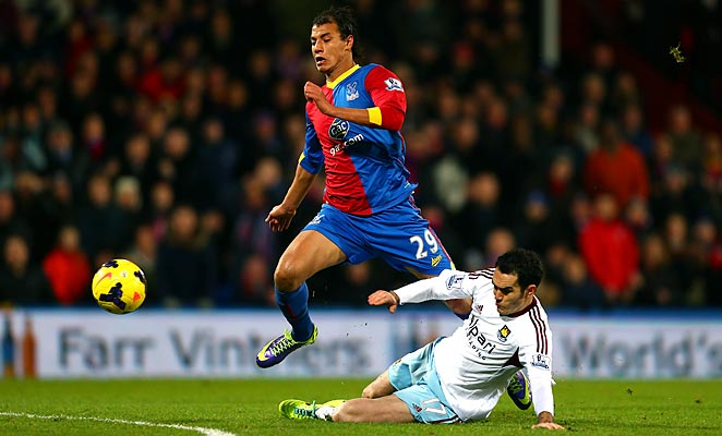 Marouane Chamakh (29) scored his second goal of the season against West Ham on Tuesday.