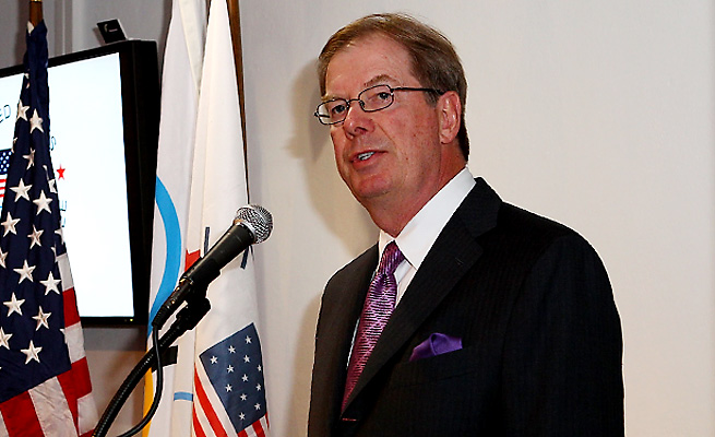 Larry Probst said several criteria must be met for the U.S. to submit a bid to host the 2024 Olympics.