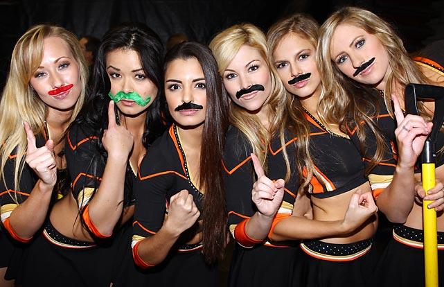 Stached away before a game against the Flames at Honda Center.