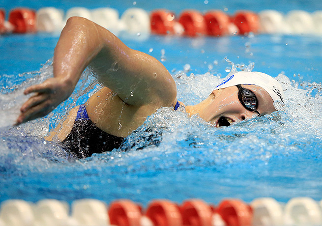 Katie Ledecky was coming off a strong summer performance at the World Championships in Barcelona.