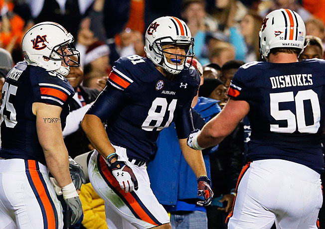 If Auburn tops Missouri on Saturday, it will have beaten nine bowl-eligible foes during the '13 season.