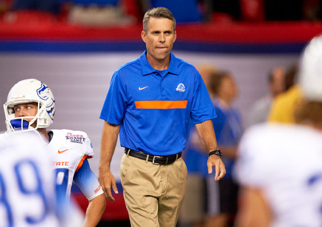 In eight seasons as Boise State's head coach, Chris Petersen went 92-12 and won two BCS bowl games.