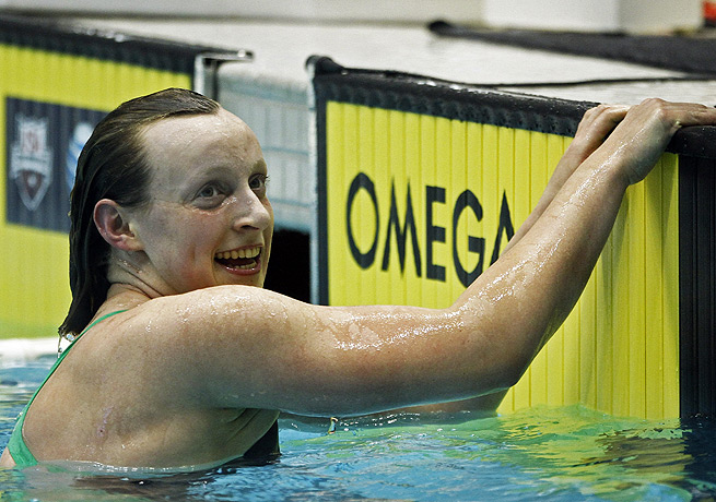 Katie Ledecky added to her victory in the 500 freestyle on Thursday at the Winter Nationals.