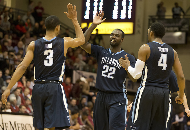 Could Villanova become a 1 or 2 seed? JayVaughn Pinkston's 18 points per game and the Wildcats' undefeated record are hard to ignore.
