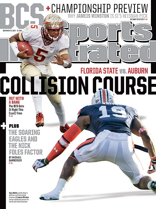 After an eventful Championship Saturday, the national title matchup is now set. With Florida State and Auburn preparing to clash in Pasadena on Jan. 6, Seminoles quarterback Jameis Winston and Tigers cornerback Ryan White grace the national cover of this week's Sports Illustrated.