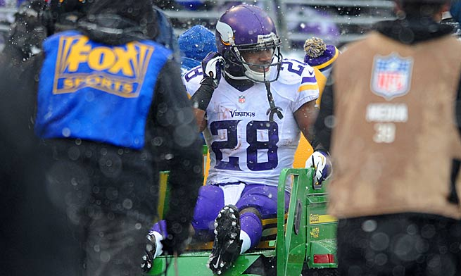 Adrian Peterson left his owners in a bind when he injured his ankle in a Week 14 loss to the Ravens.