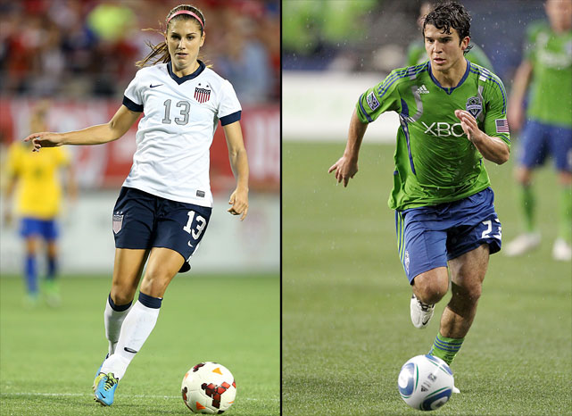 Women's soccer star Alex Morgan got engaged to MLS player Servando Carrasco of the Houston Dynamo in Dec. 2013.