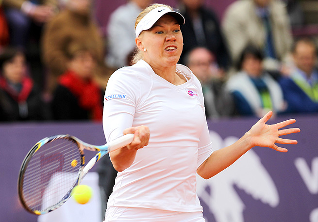 Little did Kaia Kanepi know that she would forever become the defending champ of the Brussels Open.