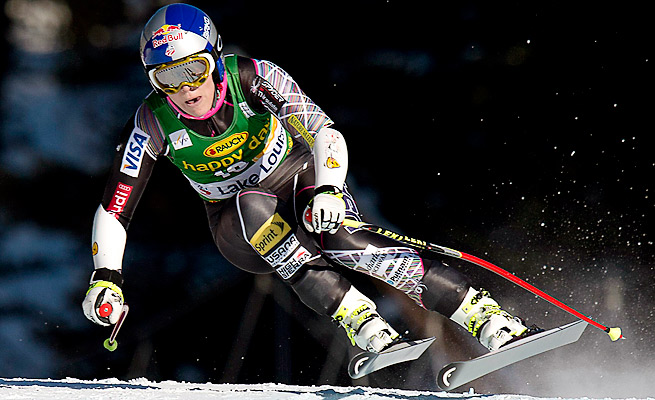 Lindsey Vonn finished 11th in her second downhill race since her knee injury in February.