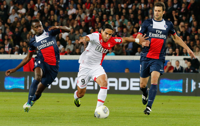 Star Colombia forward Radamel Falcao, center, remains out for Monaco with a thigh injury.