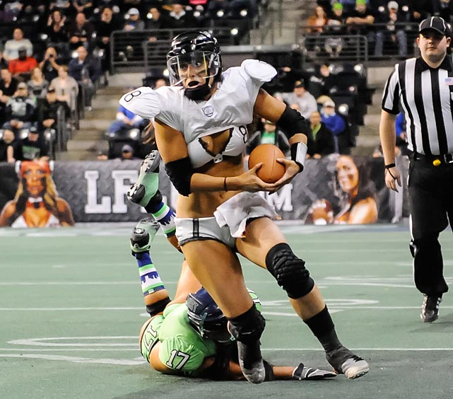 In a more attractive and ingratiating climate, LA Temptation QB Ashley Salerno was under siege as the Seattle Mist rolled in and grabbed the former Lingerie Football League's Pacific Cup (size 36D), 27-25, at ShoWare Center in Kent, Washington.