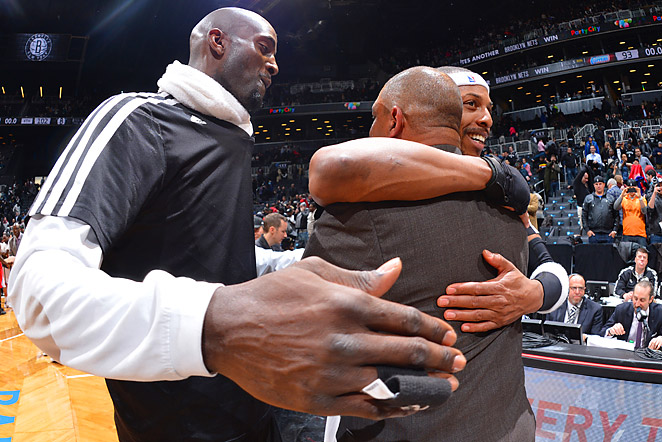 Doc Rivers spent nine seasons in Boston, coaching Paul Pierce (right) for all nine and Kevin Garnett for six.