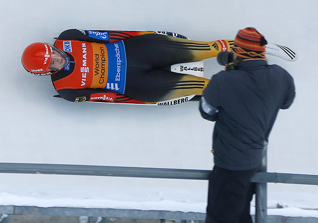 Natalie Geisenberger has yet to lose in five World Cup luge races so far this season.