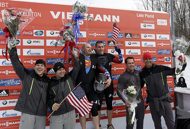 It was a clean sweep for the U.S. in the two-man bobsled event at the World Cup.