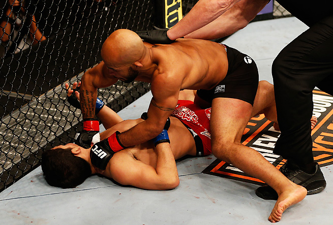 Demetrious Johnson made quick work of Joseph Benavidez in defending the title in December 2013.