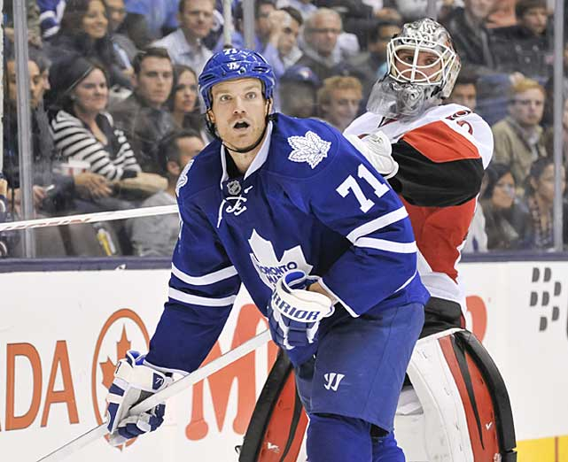 His 30-goal season in 2011-12 was an indication of what he could contribute on the scoreboard in addition to his obvious physical presence. After signing a seven-year, $36.75 million contract with Toronto during the summer, Clarkson was expected to become an impact player as a power forward. Instead, he produced only two goals and four assists in 23 games and was demoted to the Maple Leafs' third line. He hasn't helped himself, or his new team, by earning a 10-game suspension for leaving the bench during a preseason scrum and a two-game ban for a head shot on Dec. 12. -- <italics>Brian Cazeneuve</italics> <bold>Ten Best NHL Player Surprises</bold>
