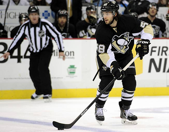 Penguins defenseman Kris Letang has six goals, 11 points and -6 rating in 24 games this season.