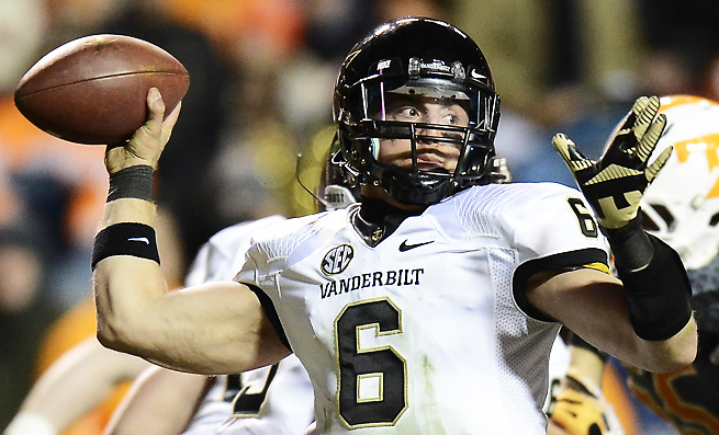 Vanderbilt QB Austyn Carta-Samuels has played most of the season on an injured ACL.