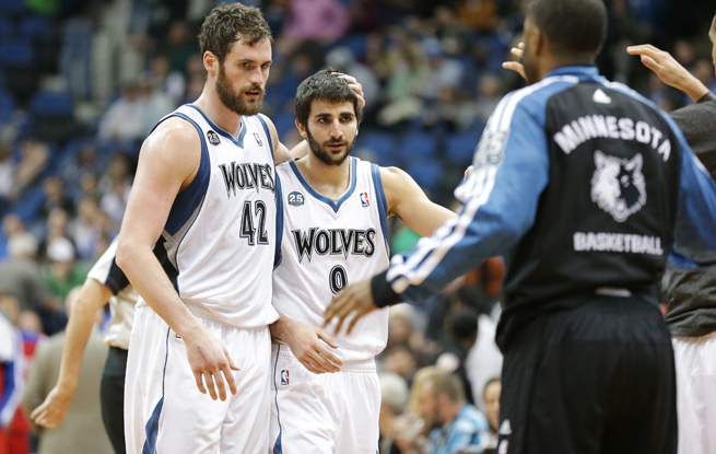 In their third season together, Kevin Love and Ricky Rubio are still eyeing their first postseason berth.