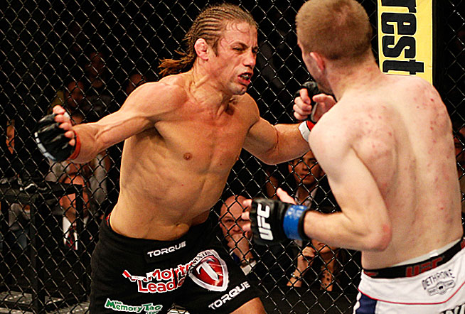 Urijah Faber (left) proved at 34 years old, he's still a force to be reckoned with in UFC.