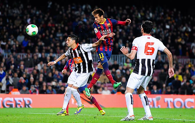 Neymar scored his sixth goal in a week as Barcelona cruised past Cartagena in the Copa Del Rey.
