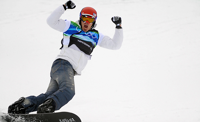 Seth Wescott narrowly claimed his second snowboard cross gold medal at the 2010 Vancouver Games.