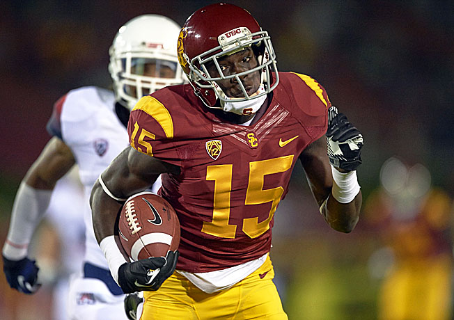 USC sophomore Nelson Agholor (15) is one of the most dynamic receivers and return men in the nation.