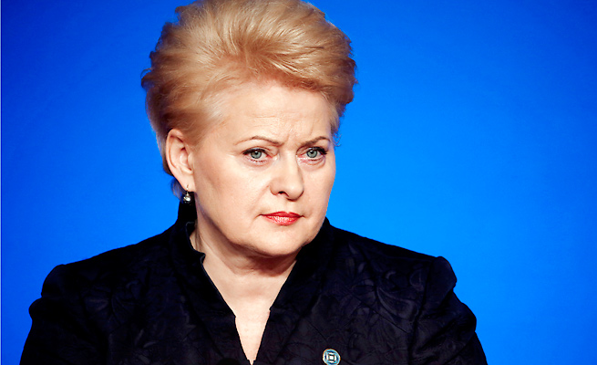 "Dalia Grybauskaite said she'll skip the Olympics over Russia's ""attitude"" toward neighboring countries."
