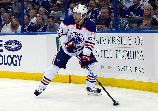 Swedish winger Linus Omark has only appeared in one game for the Oilers this season.