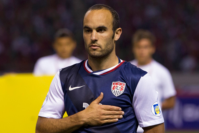Landon Donovan and the U.S. men's national team remain No. 14 in the world in the latest FIFA rankings.