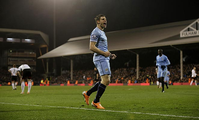 James Milner scored the last of City's goals in a 4-2 win over Fulham.