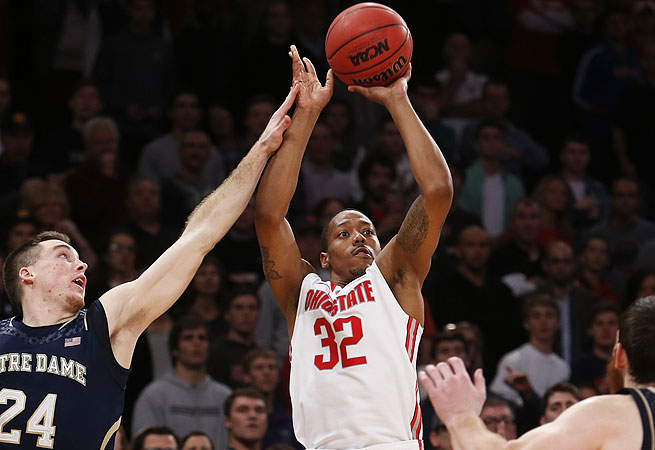 Lenzelle Smith Jr. scored all nine of his points against Notre Dame in the final minute of the game.