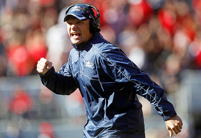 Jeff Monken was 38-16 in his tenure as head coach of Georgia Southern.