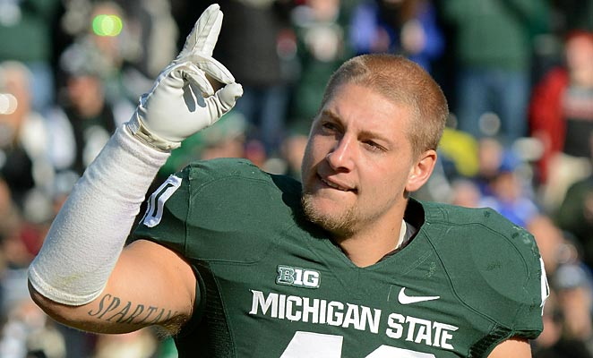 Max Bullough was named first team All-Big Ten this season, with 76 tackles on the year.