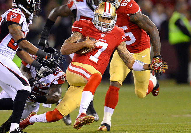 Colin Kaepernick threw for 252 yards and two touchdowns against the Cardinals in Week 6 this year.