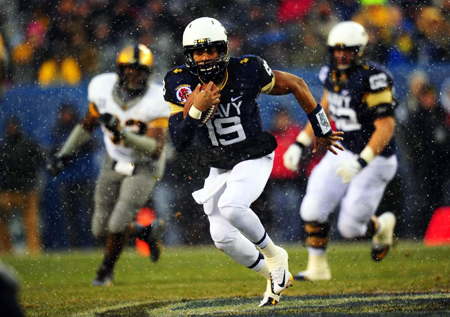 Navy sophomore Keenan Reynolds rushed for 29 touchdowns this year, an FBS record for a quarterback.