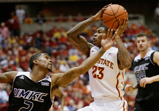K.J. Bluford (23) will seek his fortune elsewhere after receiving limited playing time at Iowa State.