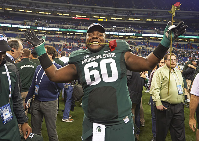 Nose tackle Micajah Reynolds and Michigan State will look to end the Big Ten's recent Rose Bowl woes.