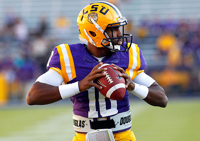LSU quarterback Anthony Jennings (10) will make his first career start against Iowa on New Year's Day.