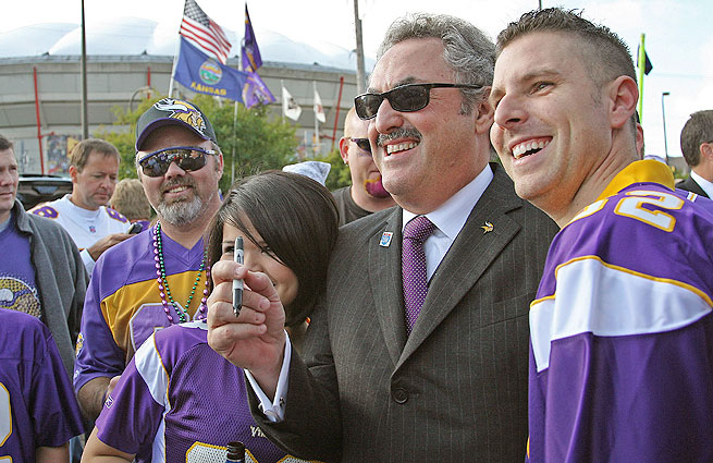 The Vikings have gone through four coaches and two GMs in the nine years since Zygi (left) and Mark Wilf bought the team.