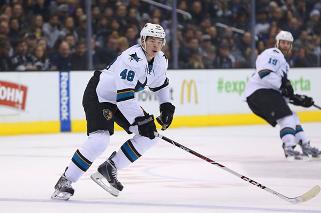 The 20-year-old Hertl was a strong Calder Trophy candidate with 15 goals and 10 assists in his first 35 games.