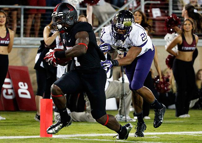 Ty Montgomery tallied 204 return yards to help Stanford hold off upset-minded Washington last week.